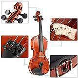 Ammoon® Antike Violine aus massivem Fichtenholz, mit Glanzlack, Kinnhalter, stabilem Geigenkoffer und Kolophonium 4/4