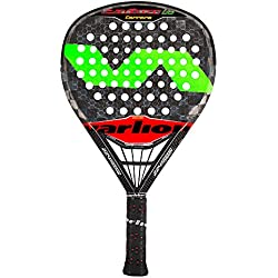 Varlion Cañon H Difusor Carrera Pala Pádel de Tenis, Unisex Adulto, Verde / Rojo, S