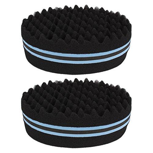 Andux Zone Double Side Twist Haar Afro Braid Stil Dreadlock Sponge Curls Schwamm 2 PCS JFHM-01 (blau)