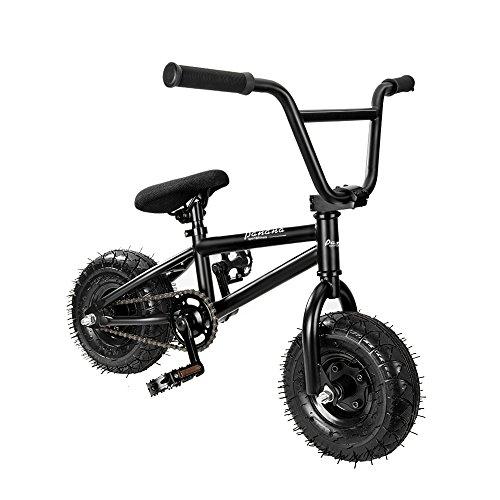 Panana BMX 10 Zoll Mini Fahrrad, 360°Rotor-System 4 x Stunt BMX Bike Schwarz (Große Rampe)