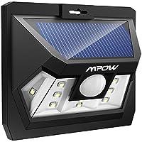 Mpow 10 LED, Luz Solar, Lámpara Led,Foco Solar Impermeable con Sensor de Movimiento para Patio Exterior, Pared, Jardín, Porche, Garaje, Terraza Iluminación Exteriores