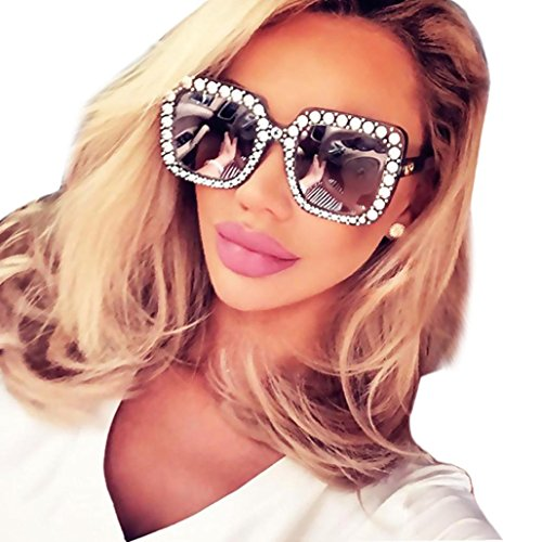 Sunglasses,Ba Zha  Womens Fashion Artificial Diamond Cat Ear Quadrate Metal Frame Brand Classic Sports Outdoors Sunglasses Vintage Eyeglasses Clear Cycling Sport Sunglasses Party Club Eyewear