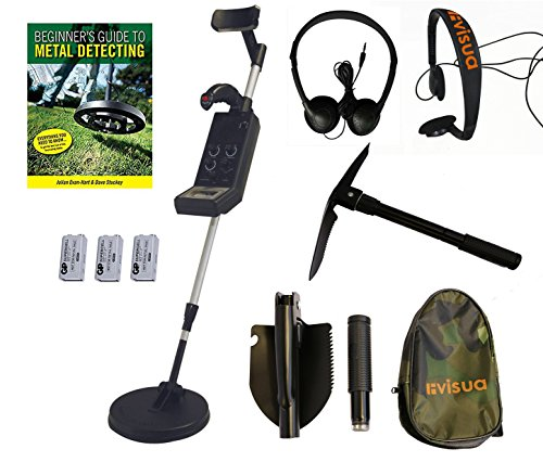 Visua Professional Discriminating Metal Detector (Detector Kit: H/Phones Batts Pick & Beginners Guide)