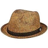 Stetson Cappello di Paglia BBQ Toyo Player Uomo - da Sole Estivo Cappelli Spiaggia con Fascia in Pelle Primavera/Estate - S (54-55 cm) Marrone
