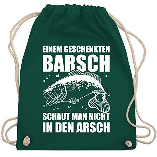 Angeln - Einem geschenkten Barsch schaut man nicht in den Arsch - Unisize - Dunkelgrün - WM110 - Turnbeutel & Gym Bag -