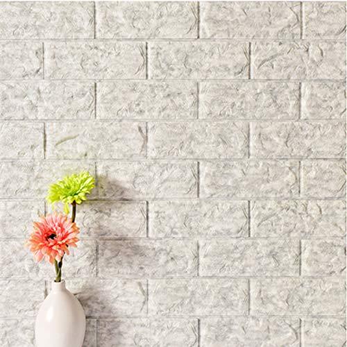 Cczxfcc adesivi murali 3d mattone living room decor schiuma impermeabile rivestimento murale diy carta da parati autoadesiva per tv sfondo77x70cm