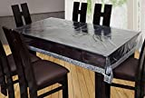 #6: Yellow Weaves Dining Table Cover Waterproof Transparent 6 Seater 60X90 Inches