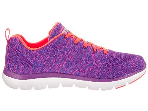 Skechers Damen Flex Appeal 2.0 High Energy Sneaker Purple/Orange
