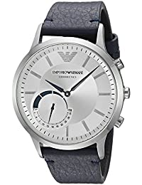 Emporio Armani Men's ART3003 Blue Leather Connected Hybrid Smartwatch