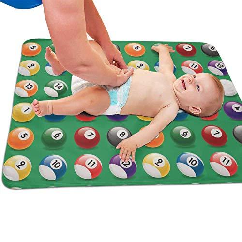 swerrtty Billiard Balls Colors Pattern Portable Diaper Baby Changing Pad Multi-Purpose Travel Changing Mat