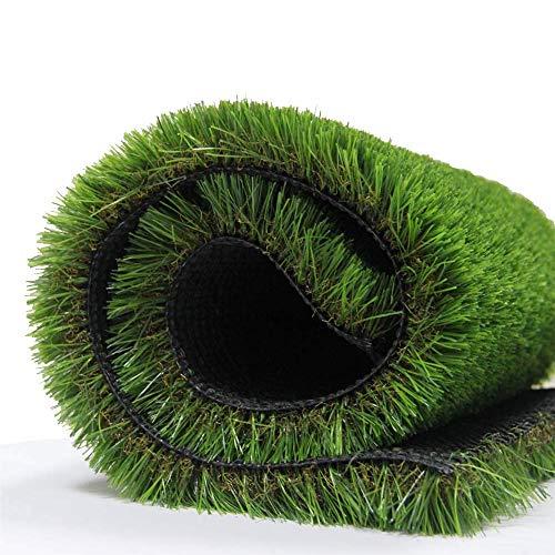 Synthetischer Kunstrasen Teppich für den Innen und Außenbereich, Florhöhe 35 mm, ideal als Teppich für Hunde, Garten und Fußmatte, gummierte Unterseite mit Drainagelöchern (1m(W)*4m(L)) -