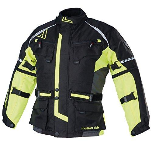 Modeka TOUREX KIDS Kinder Textiljacke - schwarz gelb Größe 152