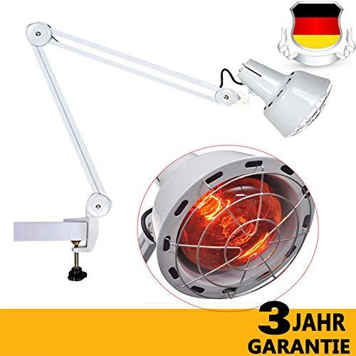 Infrarot Lampe Infrarotlampe Strahler Wärmelampe Rotlicht Lampe mit Clip/Infrarot Hitze Therapie Wärmelampe Physiotherapie Health Schmerzlinderung Klemme