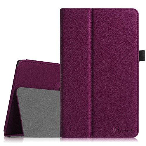 Fintie Odys Winpad V10 / Odys Windesk X10 Hülle Case - Slim Fit Folio Kunstleder Tastatur Ständer Schutzhülle Cover Tasche für Odys Winpad V10 2in1 / Odys Windesk X10 25,7 cm (10,1 Zoll) Convertible Tablet-PC, Lila