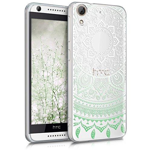 kwmobile HTC Desire 626G Hülle - Handyhülle für HTC Desire 626G - Handy Case in Mintgrün Weiß Transparent
