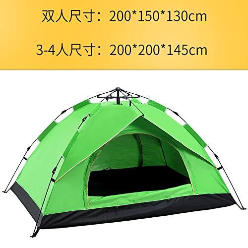 CBWZDJZDS Outdoor-Zelt 2-3-4 Personen Vollautomatisches Zelt Im Frühjahr-Stil Geschwindigkeit Offen Regensicher Sonnencreme Zelt Grün Doppelt (200X150X130Cm)