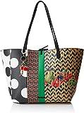 Desigual Lola Capri Shoulder Bag FiestaDati:o Materiale: 100% poliuretanoo Dimensioni: Larghezza di circa 32 cm, altezza circa 28 cm, profondità 13 cmo Colore: Fiesta (nero / bianco / rosso)o Fabbricante: Desigual
