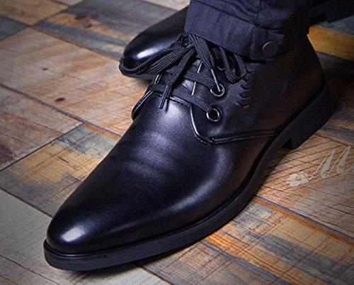 HYLM Scarpe casuali di affari di Scarpe da uomo degli uomini di grandi dimensioni traspiranti e scarpe da sposa black tie ups
