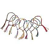 9 x Hippie Style Colorful Braided Friendship Bracelets Thread Wrist Ankle Bracelet Random Color---Knurled