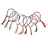 9 x Hippie Style Colorful Braided Friendship Bracelets Thread Wrist Ankle Bracelet Random Color---Knurled