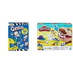 Hasbro Gaming Gestos (Versión Española) (B0638105) + Play-Doh PDH Core Dentista Bromista, Multicolor, 1 (Hasbro B5520EU4)