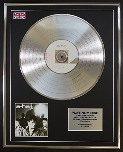 A-HA/LTD EDITION CD PLATINUM DISC/THE DEFINITIVE SINGLES COLLECTION 1984-2004