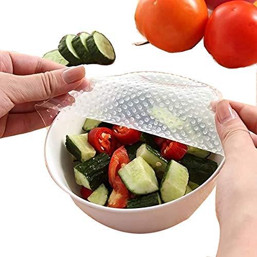 Yijia 4pcs reciclaje conservante de silicona de protección del medio ambiente Película Film conservante Wrap-Dispensador cortador