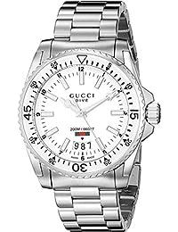 a23bd4c3b48 Gucci Dive Montre pour homme Bracelet Acier Quartz Suisse 40 mm YA136302