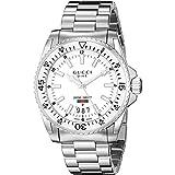 Gucci Dive Herren-Armbanduhr Schweizer Quarz 40mm Edelstahlarmband YA136302