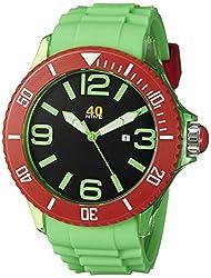 40Nine Mens 40NINE01/GREEN Extra Large 50mm Analog Display Japanese Quartz Green Watch