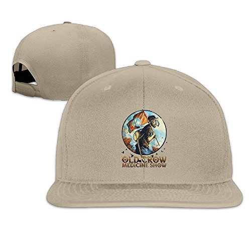 thna-old-crow-medicine-show-album-adjustable-fashion-baseball-hat-natural