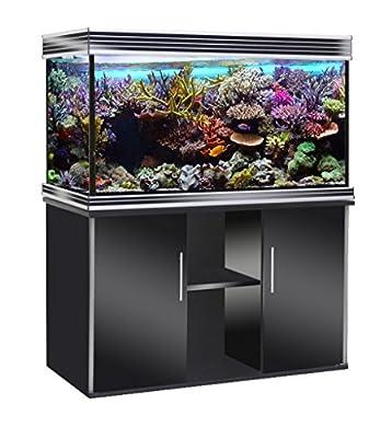 WAVE Design 100 Glossy Aquarium avec Lampe LED pour Aquariophilie Noir