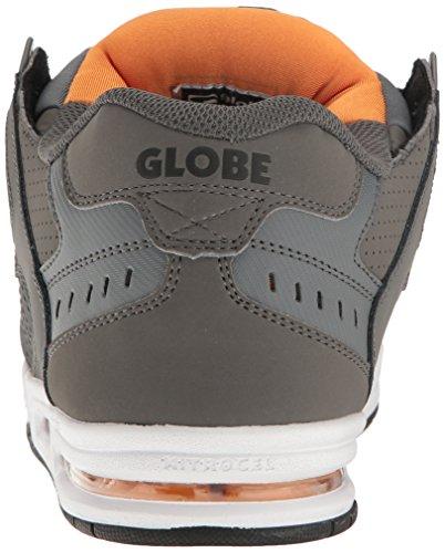 Globe Pewter Orange Skateschuh Globe Leder Sabre Leder Shadow Sabre 76AqxOpExw