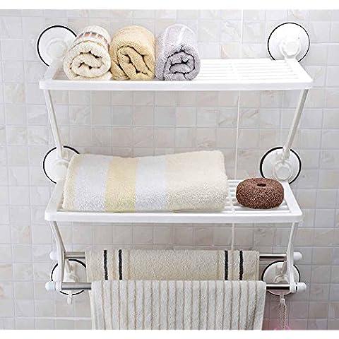 KHSKX Lechón para la moda de los estantes, baño baño de pared de acero inoxidable perforada montado estante de almacenamiento de información de
