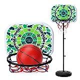 Mecotech Basketballständer, 200CM Basketballständer Höhenverstellbar BasketballKorb mit Ständer Backboard Ständer Hoop Set für Kinder