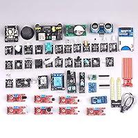 Decdeal 40pcs Sensor Kit Compatible with Arduino Starter 40-in-1 Sensor Module Kit