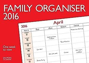 Calendrier 2016 organisateur familial - Une semaine par page