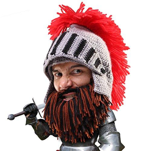 Beard Head Bartmütze – Ritterhelm mit falschem Bart – Lustige ()