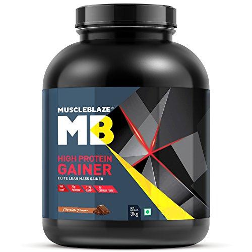 MuscleBlaze High Protein Lean Mass Gainer, 3 kg (Chocolate)
