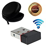 Lambent Mini Wi-Fi Network Adapter/Receiver For Windows Pc And Laptops With Round Earphone Carrying Case - Multi Purpose Pocket Storage with One Year Warrnty (Assorted Color)