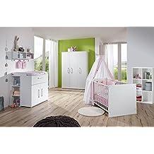 Babyzimmer In Weiß, Kleiderschrank B: 130 Cm, Wickelkommode B
