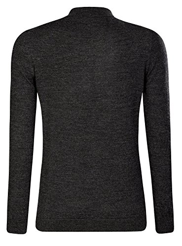 oodji Ultra Homme Pull en Laine Col Polo Gris (2500M)