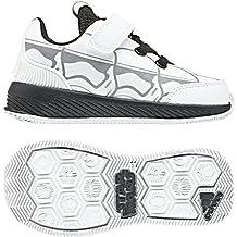 meet 8cde6 bcce5 Adidas Starwars RapidaRun I, Zapatillas de Estar por Casa Bebé Unisex,  Blanco (Ftwbla