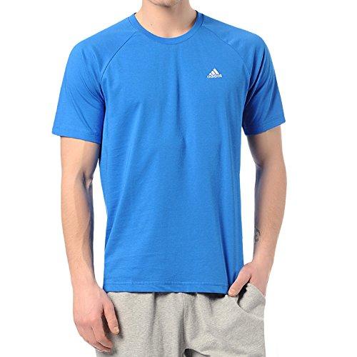 adidas - Camiseta de running para hombre, tamaño M, color azul