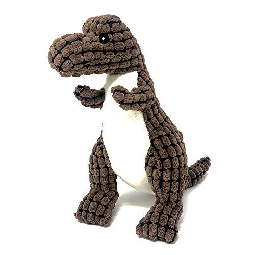 Petpany Hundespielzeug mit quietschelement Weiche Pet Kauen Plüsch Spielzeug mit Dinosaurier-Form und Glitschige Design, Lustige Interaktive Spielzeuge Sound Zahnen -