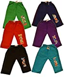 #9: Fashion Creator Kids Cotton Pack of 6 Capri Pant's with Different Colors and Design.