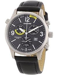 Junkers Herren-Armbanduhr XL Flugweltrekorde G38 Chronograph Quarz Leder 62965