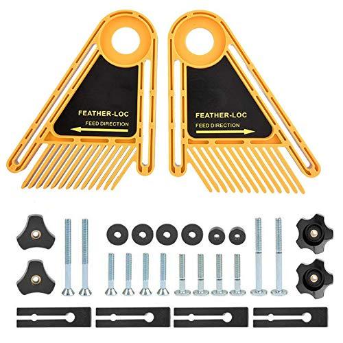 Featherboard Kit (JVJ Featherboards Doppel Druckkamm für Tischsägen Tabellen und Router, Feder Loc Brett Holzarbeiten DIY Zäune Werkzeug)