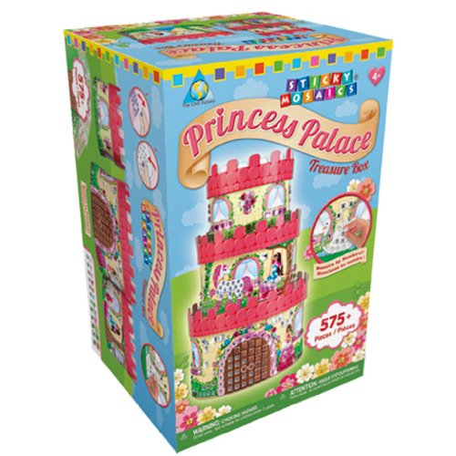Sticky Mosaics Kit-Princess Palace Treasure Box