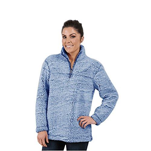 Boxercraft Adult Super Soft 1/4 Zip Sherpa Pullover-Vintage Navy-large Super Mom-sweatshirt